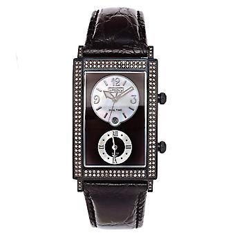 Joe Rodeo diamant mænds watch - MANHATTAN sort 1.76 ctw