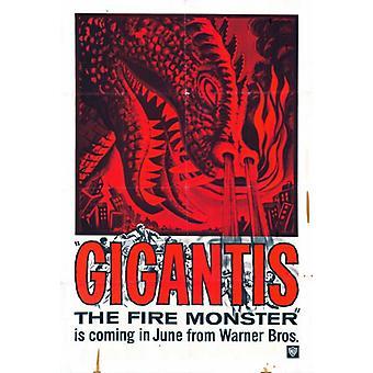 Gigantis Movie Poster drucken (27 x 40)