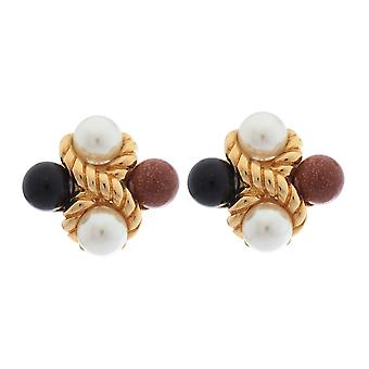 Misaki ladies earring ear clip gold CLEO QCRCCLEO