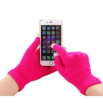 ONX3 Gionee P8w / Gionee Pioneer P8w (Hot Pink) Universal Unisex One Size Winter Touchscreen Gloves For All Smartphones / Tablets