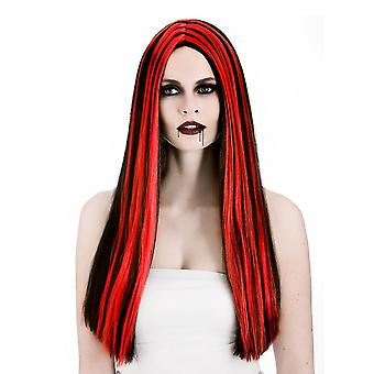 Ladies Halloween Vampiress Straight Black & Red Fancy Dress Accessory