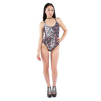 Iron Fist Womens Ditzy Swimsuit Swimwear Beachwear Holiday Ribcage Roses Cute