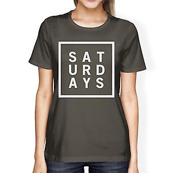 Zaterdag Womens Cool Grey Tees schattig Short Sleeve T-shirt grappige
