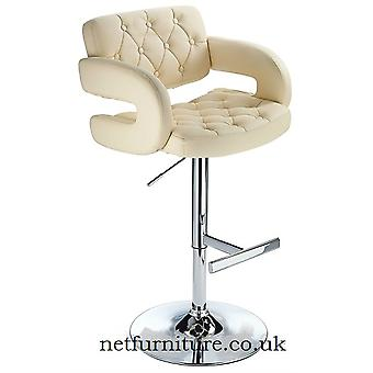 Relaxed Narino Height Adjustable Bar Stool With Padded Swivel Seat