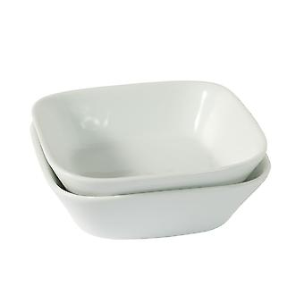Set of 2 Villeroy & Boch New Fresh Collection Side Salad Bowl White Hard Porcelain