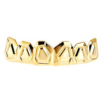 One Size Fits All Bling Grillz - OUTLINE TOP - Gold