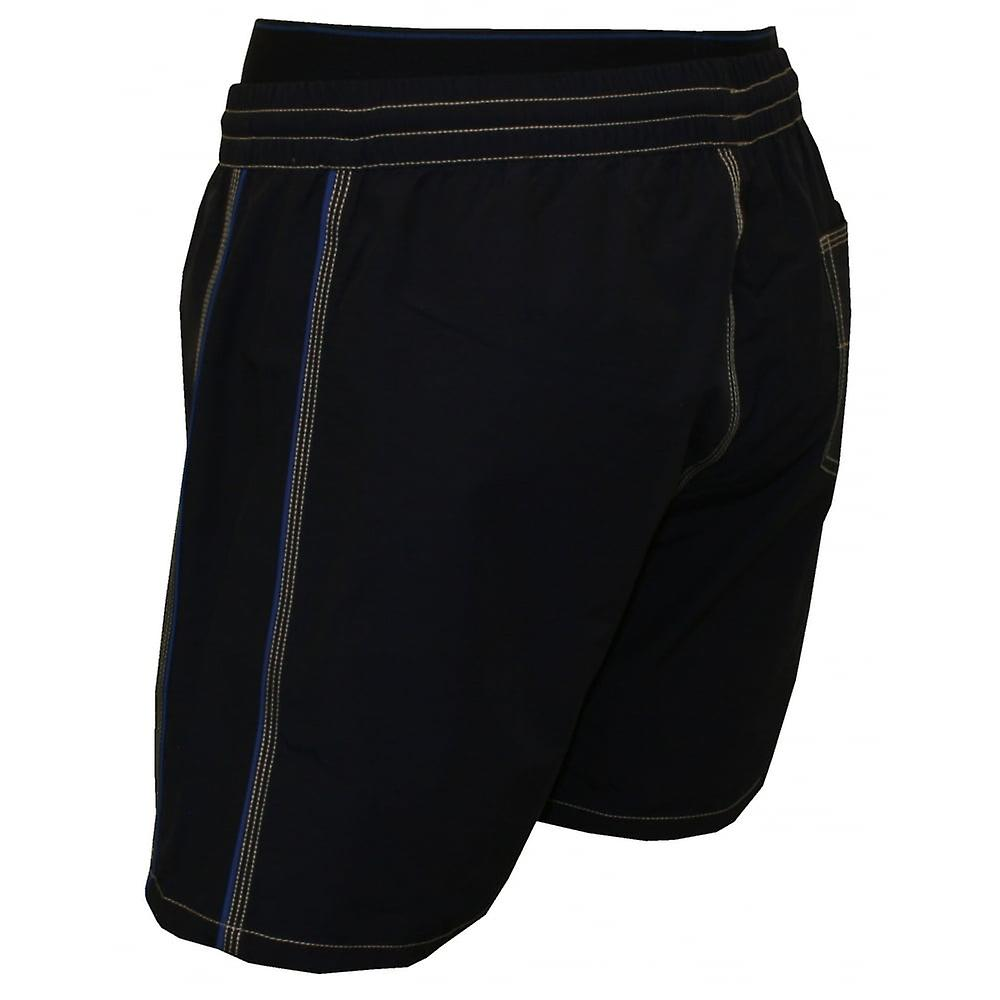 Diesel Mid-Length Swim Shorts With Double-waistband, Blue