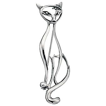 925 Silver Brooch Cats Silver