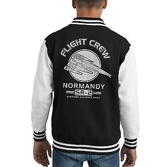 Normandiet Flight Crew Mass Effect Kid's Varsity jakke