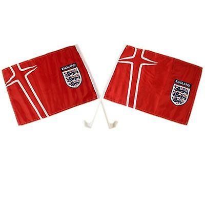 England FA Car Flag Twin Pack Away