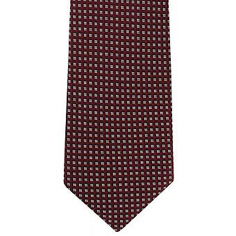 Michelsons of London Geo Design Silk Tie - Burgundy