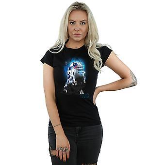 Star Wars Women's The Last Jedi R2-D2 Brushed T-Shirt
