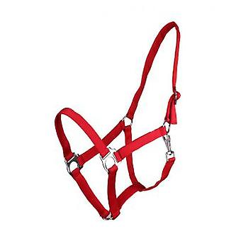 QHP Adjustable Red Full Bridle
