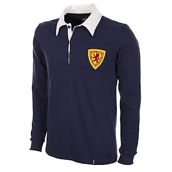 Scotland 1950\'s Long Sleeve Retro Football Shirt