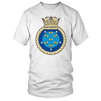 Royal Navy HMS Manchester dzieci T Shirt