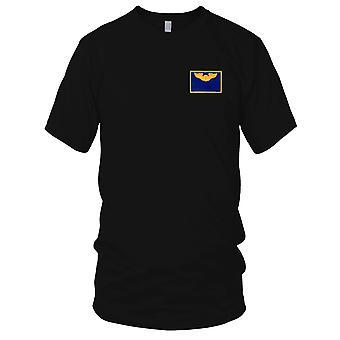 USAF Airforce - Pilot Wings Air Force navn broderet Patch - blå og guld damer T Shirt