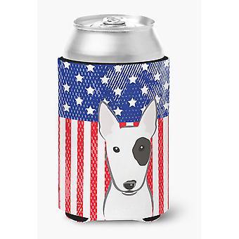 American Flag and Bull Terrier Can or Bottle Hugger
