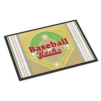Carolines skarby SB3077MAT Baseball skały wewnątrz lub na zewnątrz Mat 18 x 27 cm