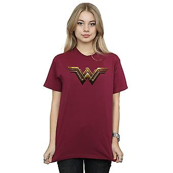 DC Comics Women's Justice League Movie Wonder Woman Emblem Boyfriend Fit T-Shirt