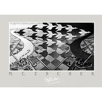 Day and Night - MC Escher Poster Poster Print