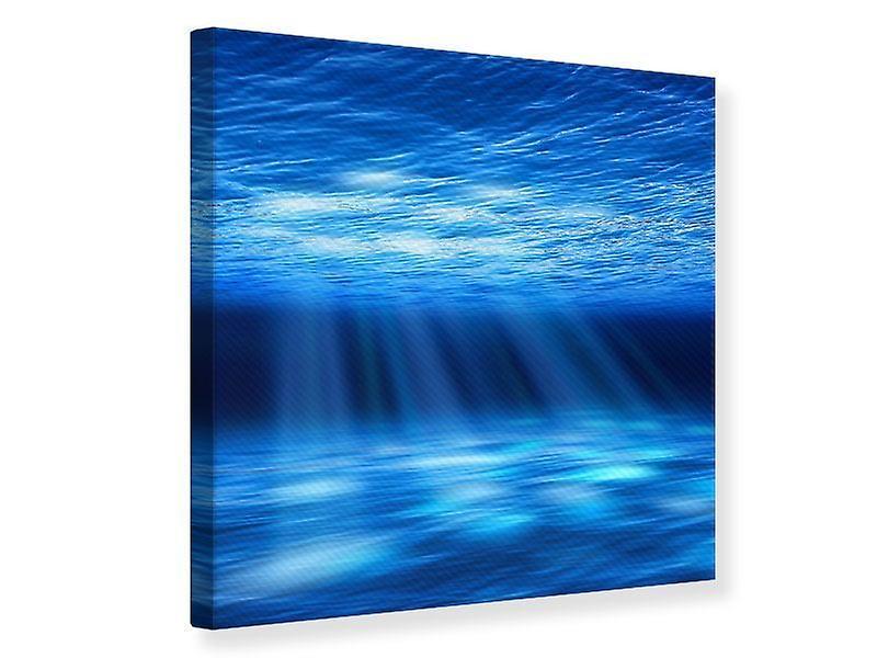 Toile impression lumière sous l'eau