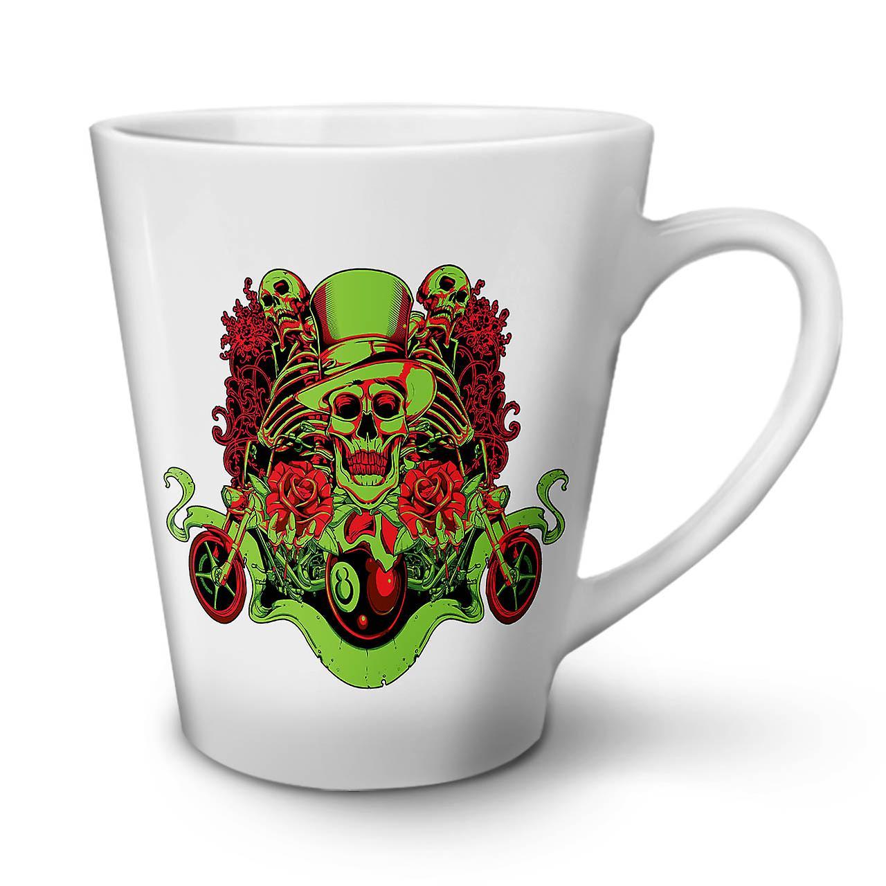 Mug Mort Céramique Café Clown Rose OzWellcoda Latte Thé 12 Nouveau Skull En Blanc Y6vbf7yg