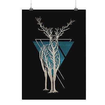 Matte or Glossy Poster with Nature Tree Art Animal | Wellcoda | *d2360