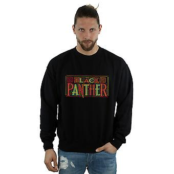 Marvel Herren Black Panther Tribal Logo Sweatshirt