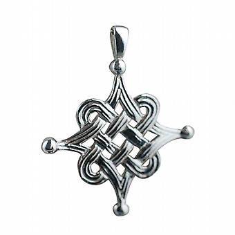Silver 32mm Celtic Islamic design Pendant