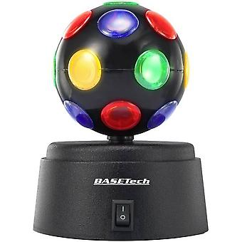 LED Party light effect Basetech LED-DISCOBALL Multi-colour