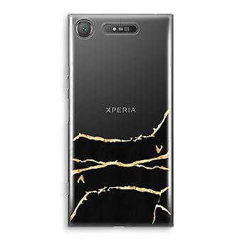 Sony Xperia XZ1 Transparant Case (Soft) - Gold marble