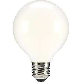 LED E27 globo 6 W = 55 W Warm white (Ø x L) 80 x 115 mm EEC: base-congelador a ++ Sygonix filamento 1 PC