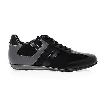 Bikkembergs men's 108202BLACK black leather of sneakers