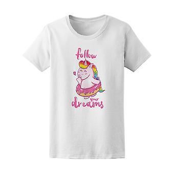 Follow Your Dreams Unicorn Ballerina Tee - Image by Shutterstock