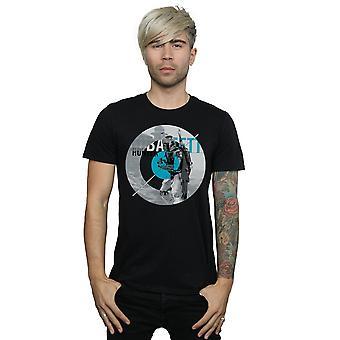Star Wars Men's Boba Fett Bounty Hunter Circle T-Shirt