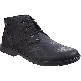 Caterpillar Mens Carsen Mid Pebble Full Grain Leather Derby Boots