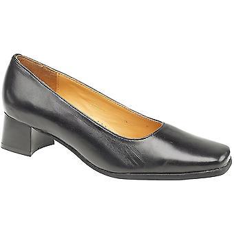 Höstjakter damer Walford Slip på Full läder Office formella sko svart