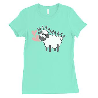 MaaaMaaa Sheep Womens Mint Cute Mothers Day Gift Tee Shirt For Moms