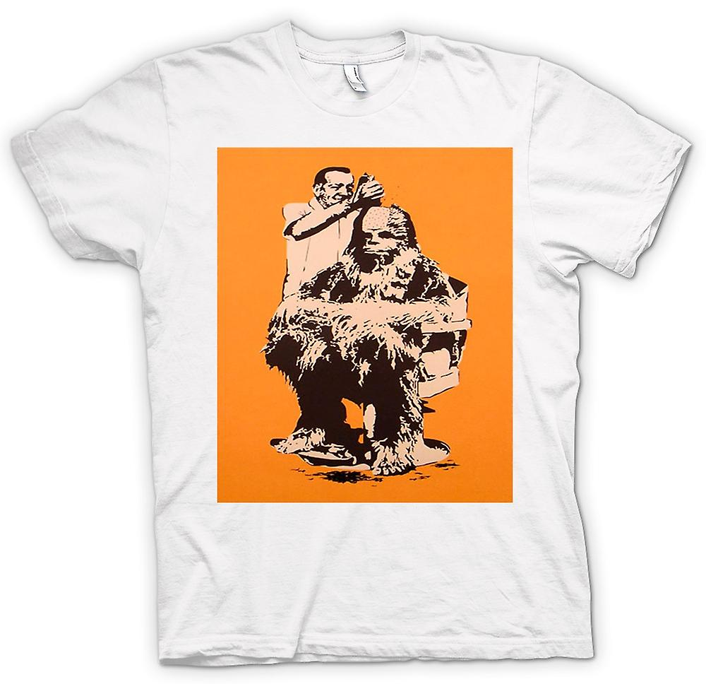 Hommes T-shirt - Chewbacca Hair Cut - Star Wars