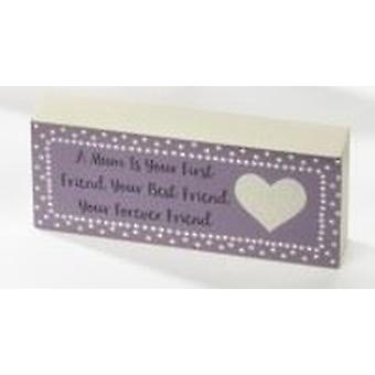 Mum Mini Standing Plaque - Forever Friend