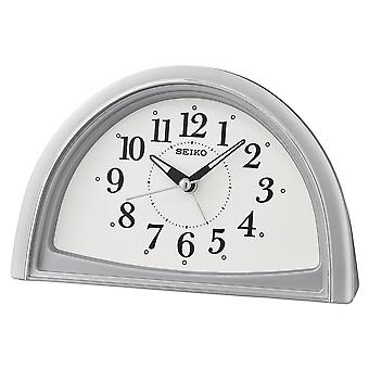 Seiko Analogue Beep Alarm Clock Silver (Model No. QHE166S)