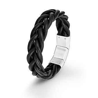 s.Oliver Jewel Herren Armband Leder schwarz SO1388/1 - 9025466