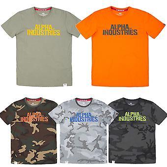 Alpha industries mäns T-Shirt suddig T