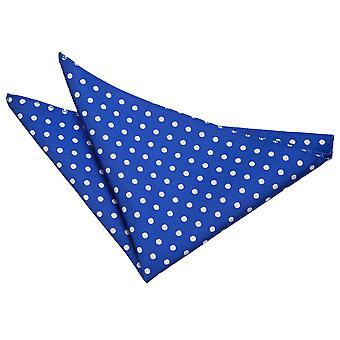 Royal blå Polka Dot Pocket Square