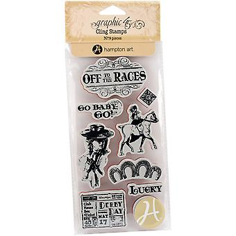 Graphic 45 Off To The Races Cling Stamps-#1
