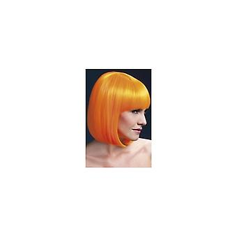 Fièvre Elise Wig Neon Orange de Smiffy, Sleek Bob avec frange (13