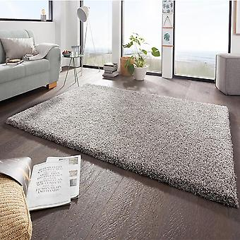 Design high pile carpet boutique grey mottled