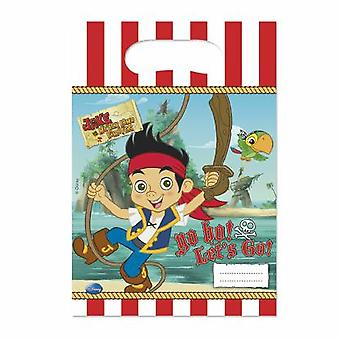 Captain Jake Neverland Pirate Party bags gift bags 6 piece children birthday theme party