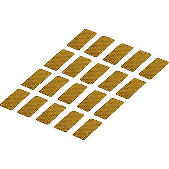 Conrad Components 1282800 Adhesive strips RTS Yellow (L x W) 50 mm x 25 mm 20 pc(s)