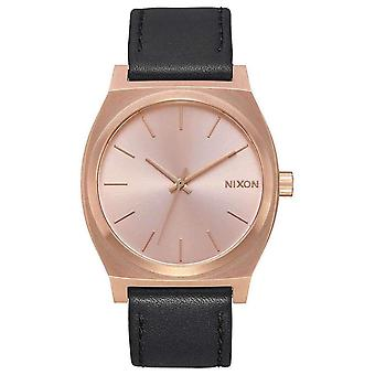 Nixon The Time Teller Watch - Black/Rose Gold